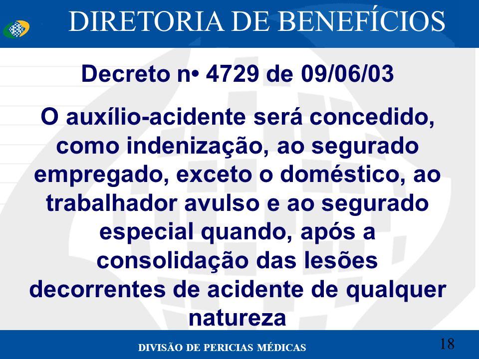 DIRETORIA DE BENEFÍCIOS