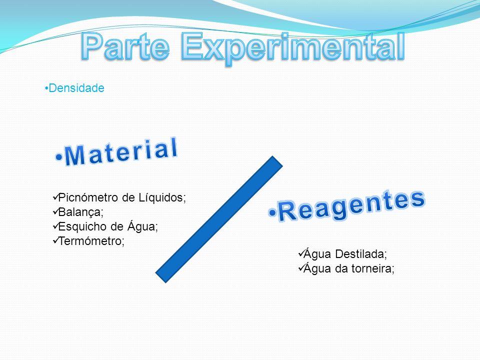 Parte Experimental Material Reagentes Densidade