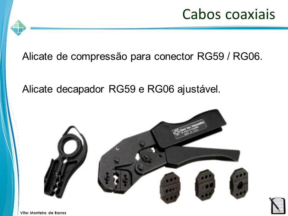 Cabos coaxiais Alicate de compressão para conector RG59 / RG06.