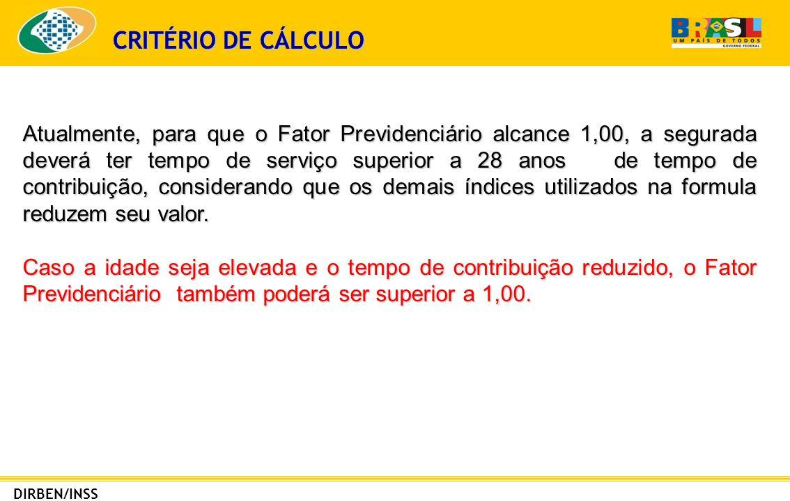 CRITÉRIO DE CÁLCULO