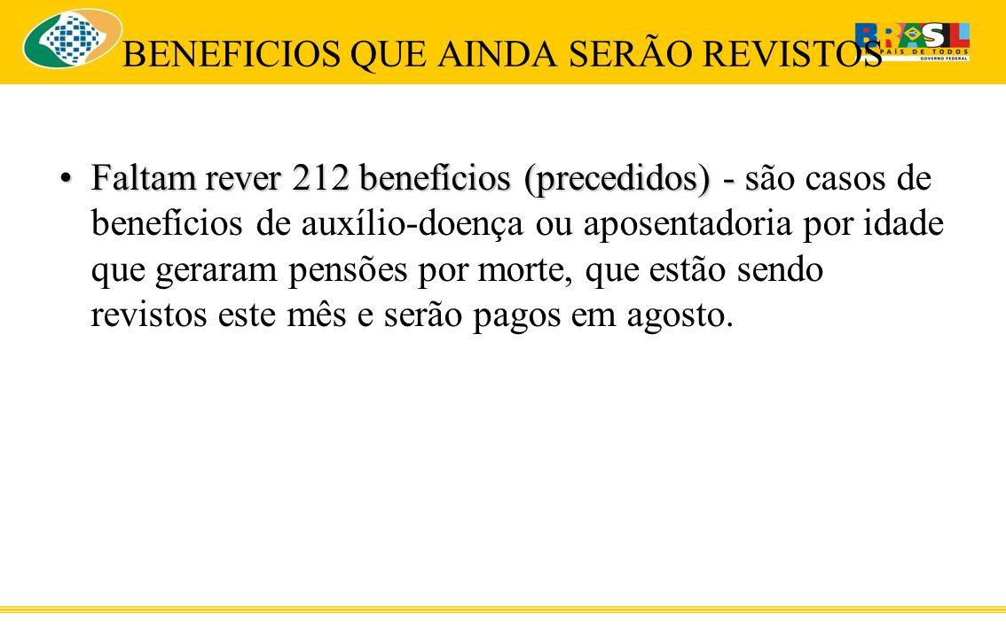 BENEFICIOS QUE AINDA SERÃO REVISTOS