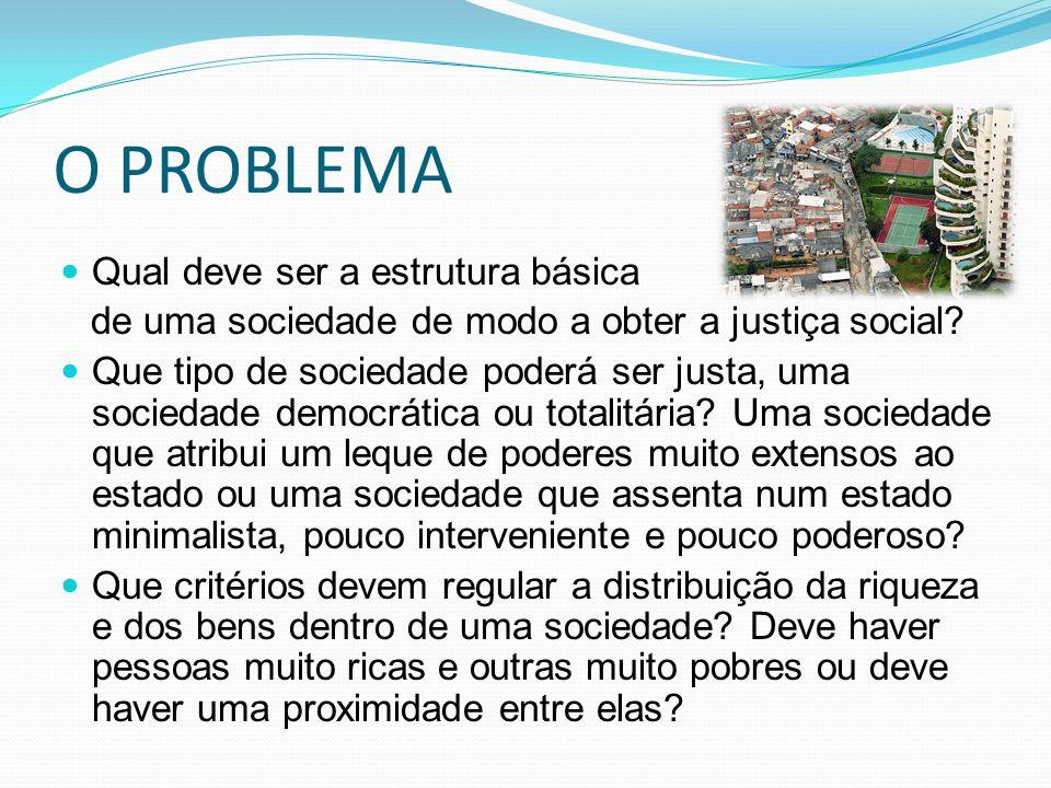 O PROBLEMA Qual deve ser a estrutura básica