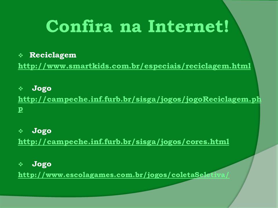Confira na Internet! Reciclagem