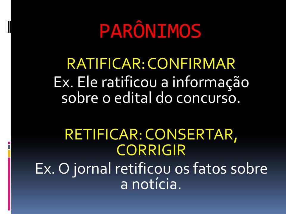 PARÔNIMOS