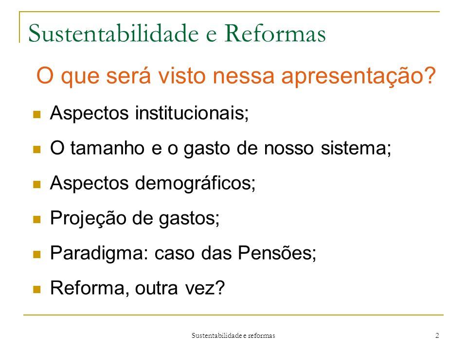 Sustentabilidade e Reformas