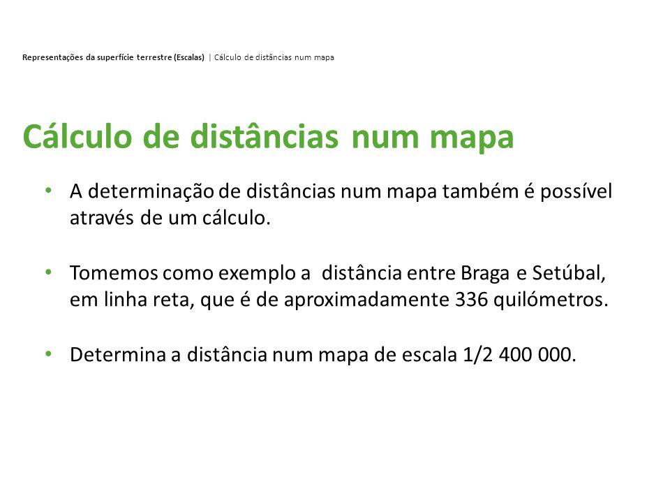 Cálculo de distâncias num mapa