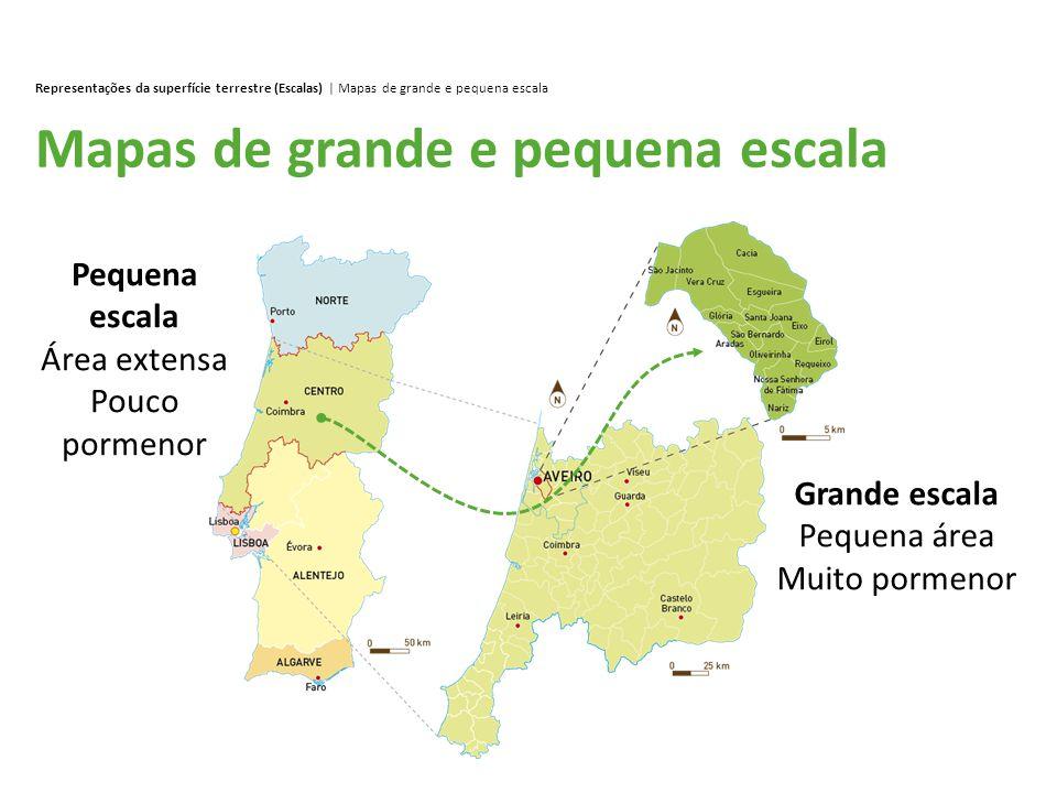 Mapas de grande e pequena escala