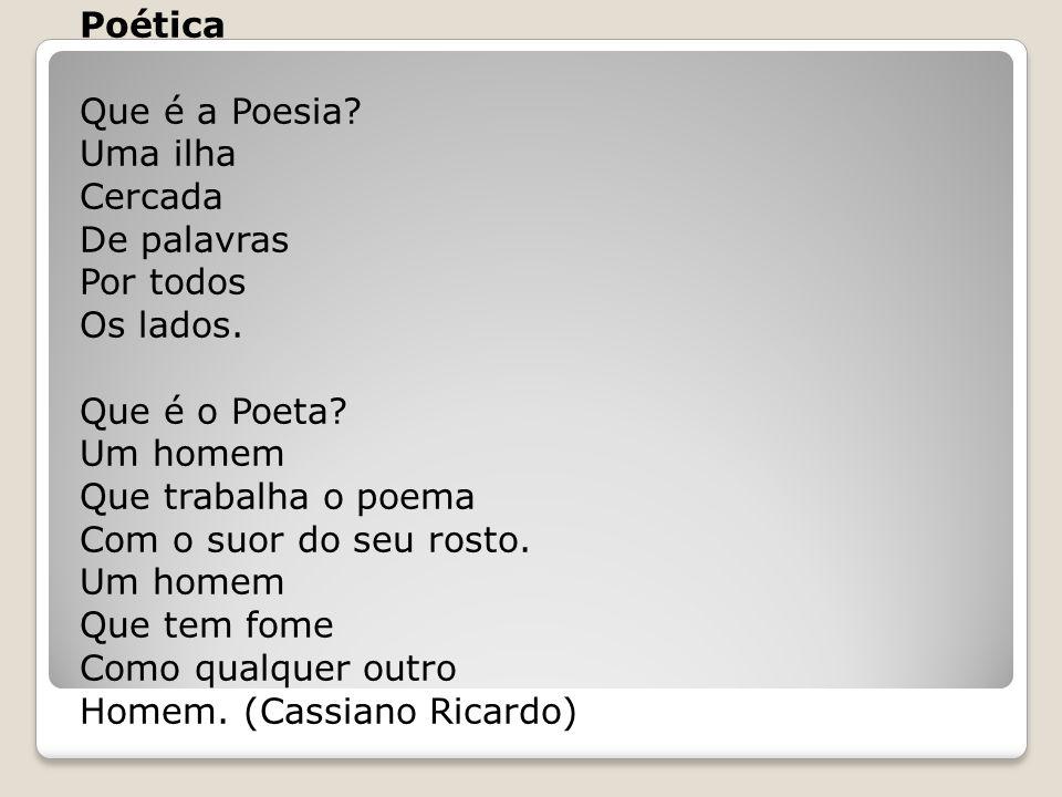 Poética Que é a Poesia. Uma ilha Cercada De palavras Por todos Os lados.