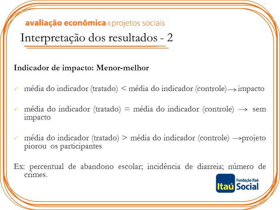 Interpretação dos resultados - 2