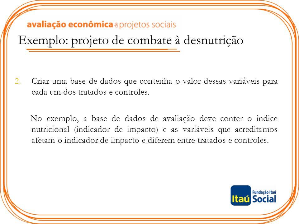 Exemplo: projeto de combate à desnutrição