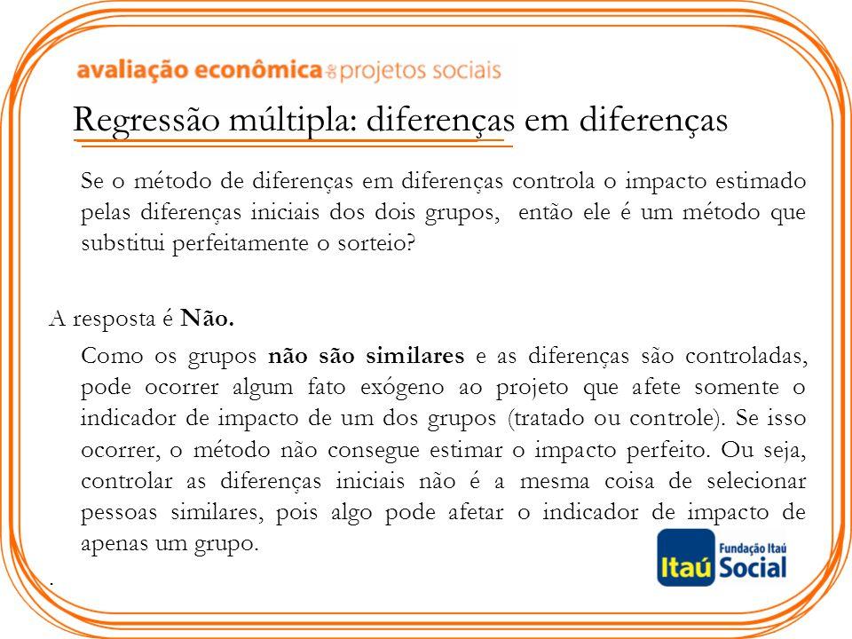 Regressão múltipla: diferenças em diferenças