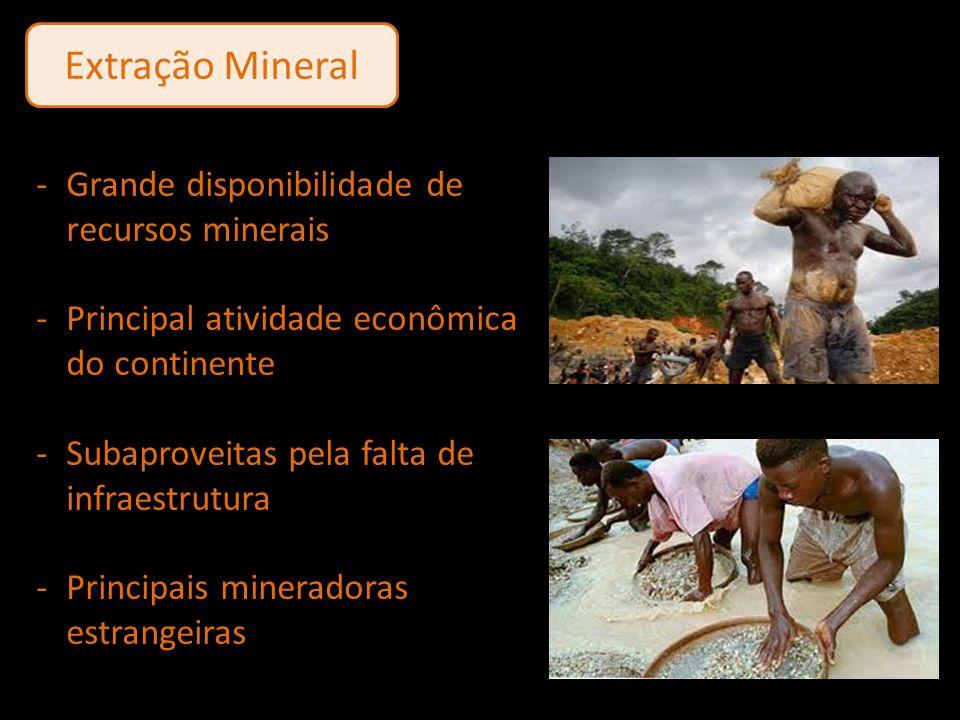 Extração Mineral Grande disponibilidade de recursos minerais