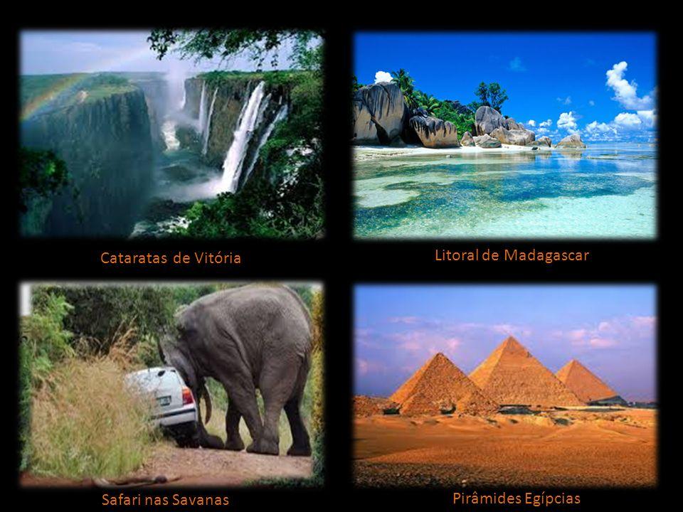 Cataratas de Vitória Litoral de Madagascar Safari nas Savanas Pirâmides Egípcias