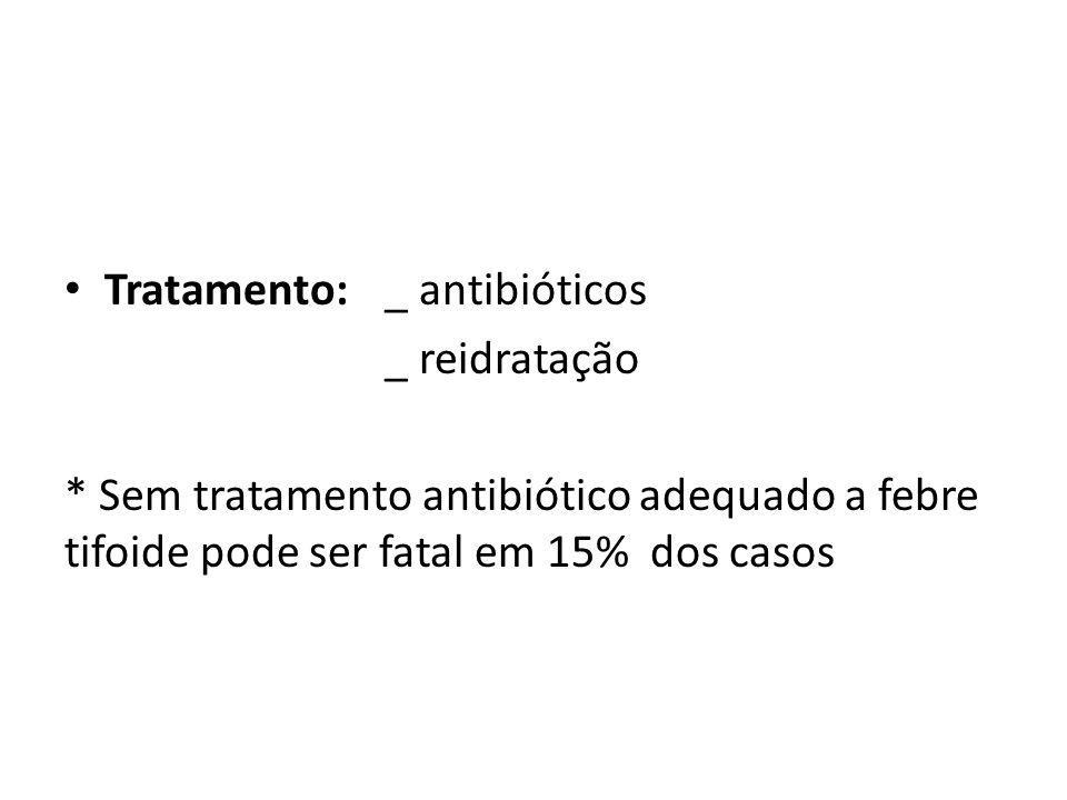 Tratamento: _ antibióticos