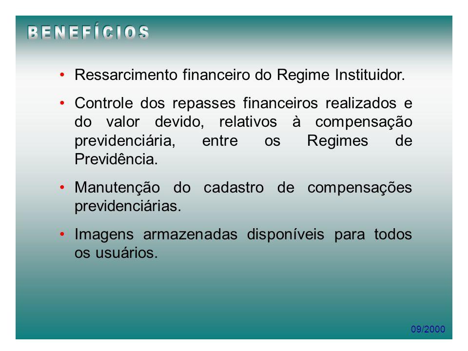 BENEFÍCIOS Ressarcimento financeiro do Regime Instituidor.