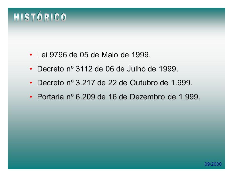 HISTÓRICO Lei 9796 de 05 de Maio de 1999.