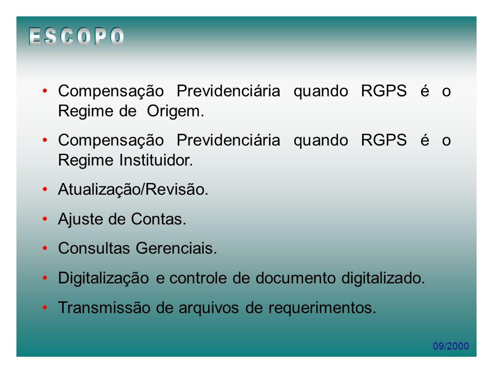 ESCOPO Compensação Previdenciária quando RGPS é o Regime de Origem.
