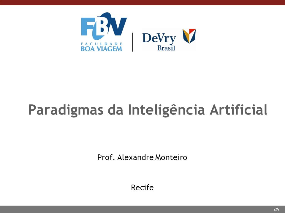Paradigmas da Inteligência Artificial