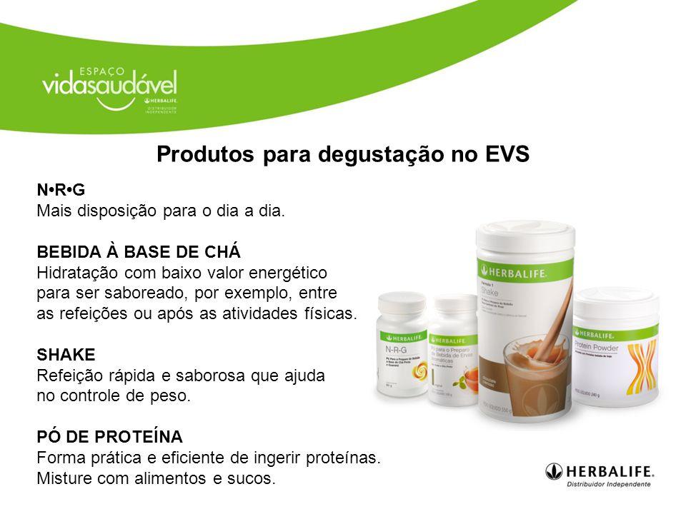 Produtos para degustação no EVS