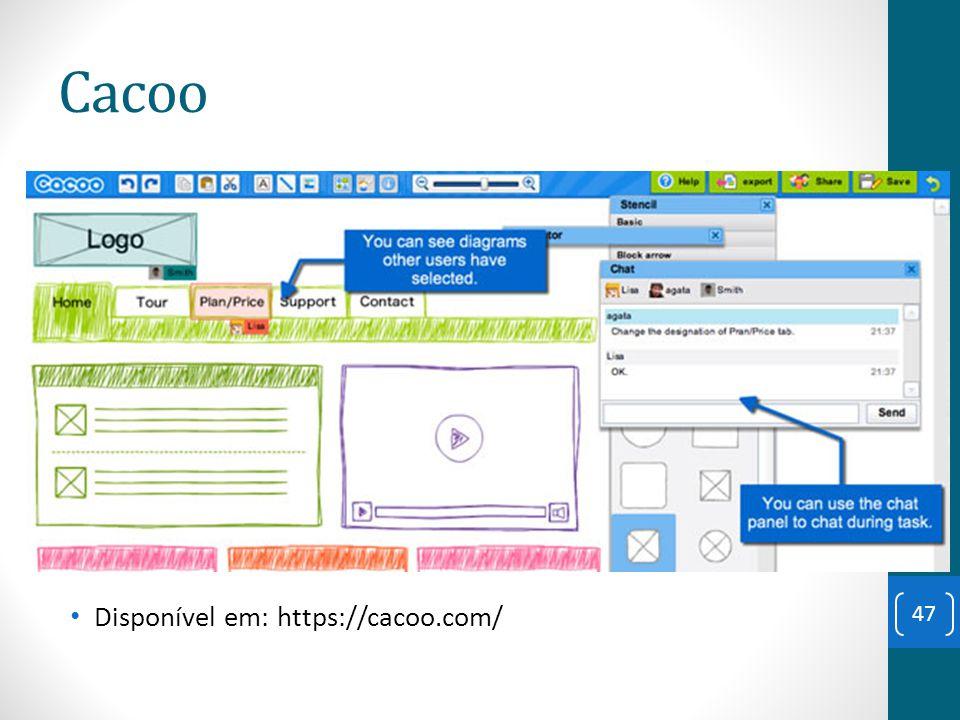 Cacoo Disponível em: https://cacoo.com/