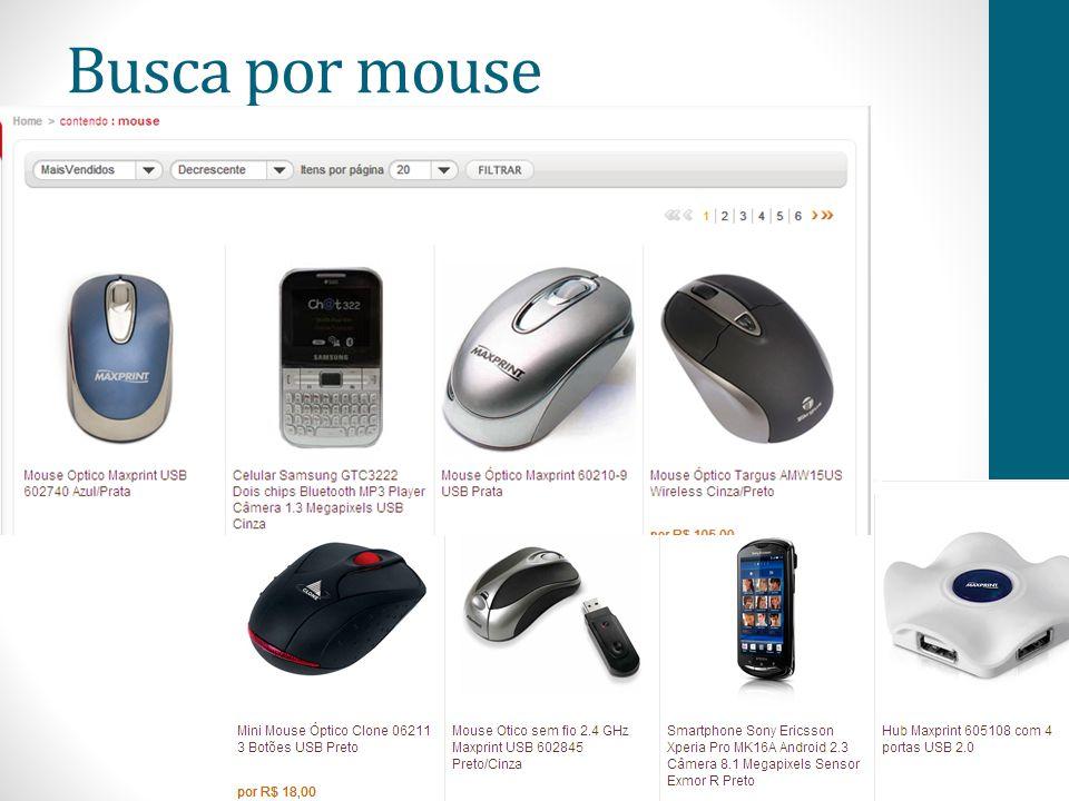 Busca por mouse
