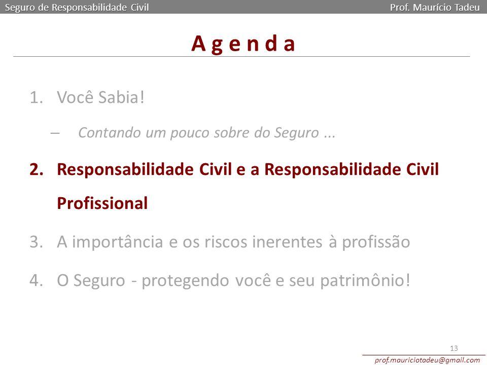 Seguro de Responsabilidade Civil Prof. Maurício Tadeu