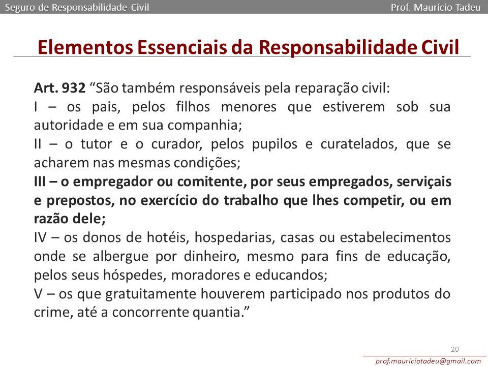 Elementos Essenciais da Responsabilidade Civil