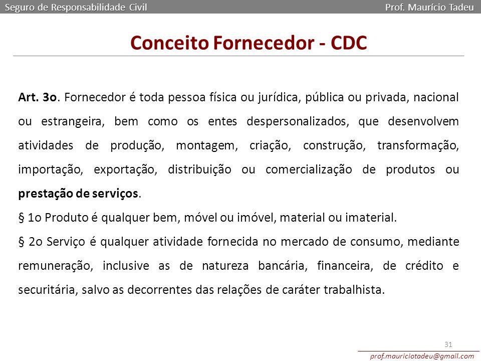 Conceito Fornecedor - CDC