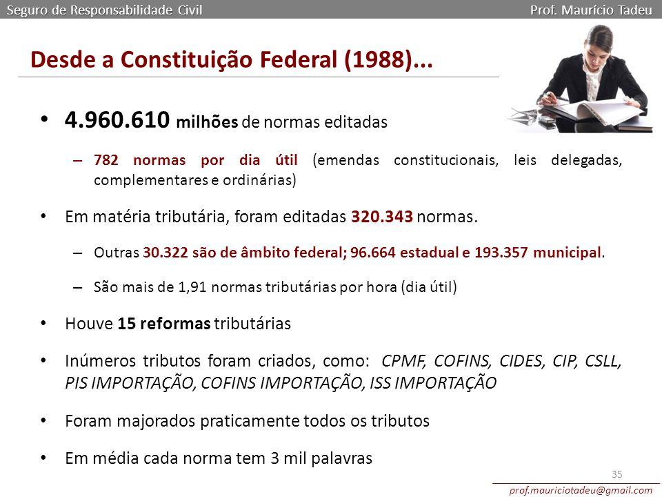 Desde a Constituição Federal (1988)...