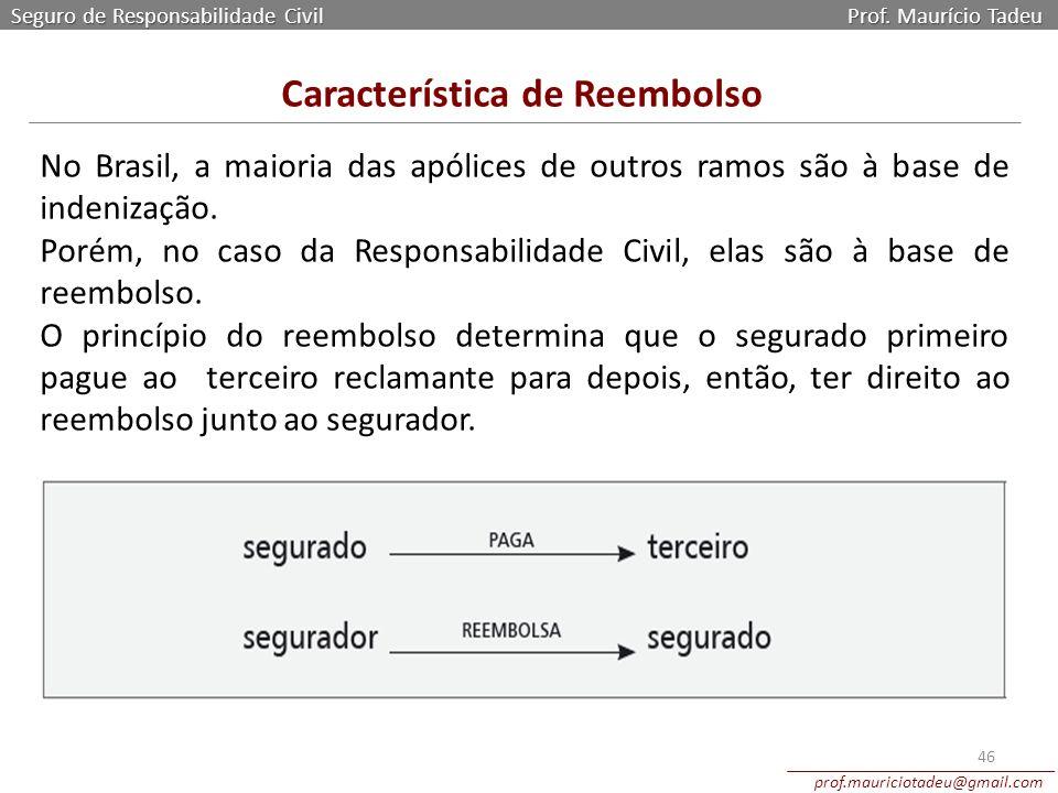 Característica de Reembolso