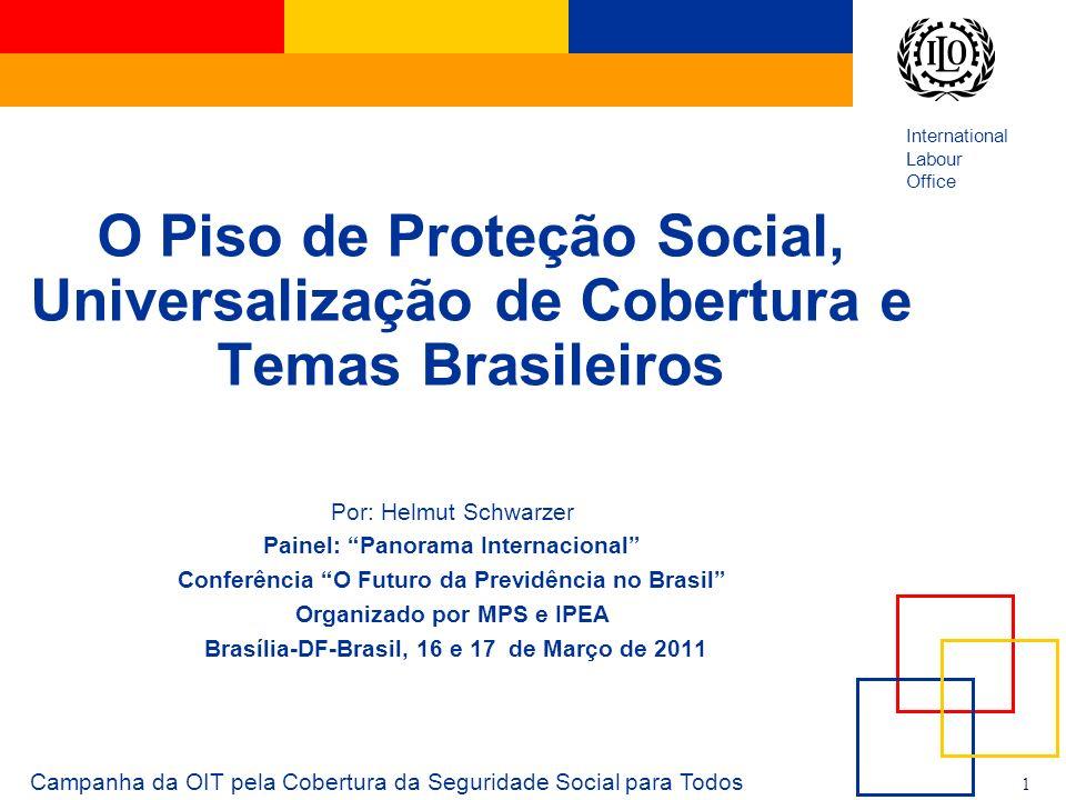 O Piso de Proteção Social, Universalização de Cobertura e Temas Brasileiros