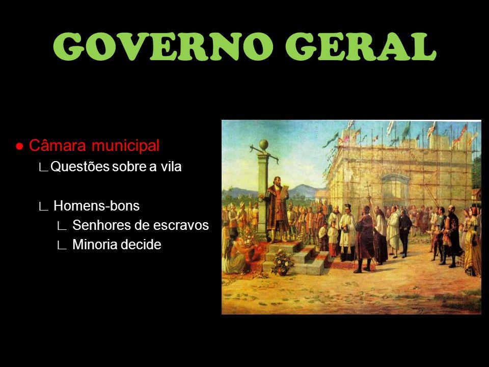 GOVERNO GERAL ● Câmara municipal ∟Questões sobre a vila ∟ Homens-bons
