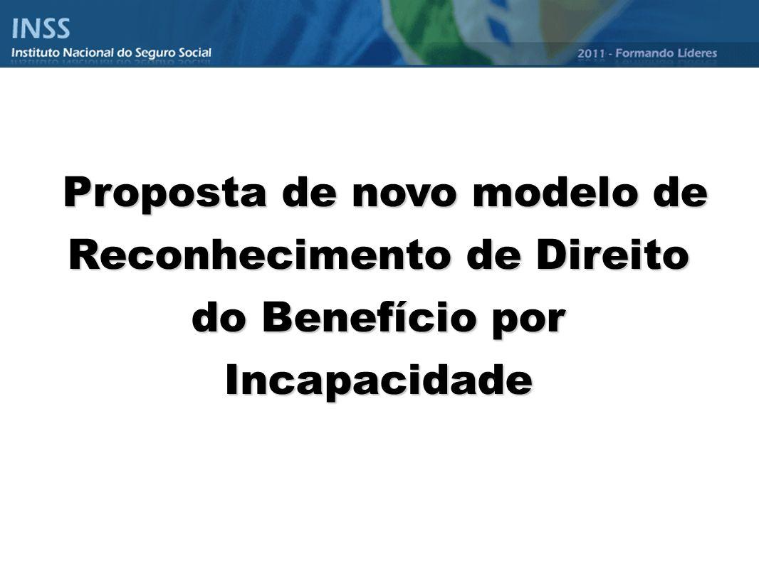Proposta de novo modelo de Reconhecimento de Direito do Benefício por Incapacidade