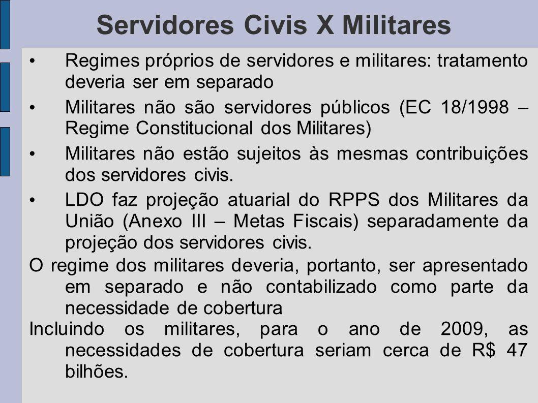 Servidores Civis X Militares