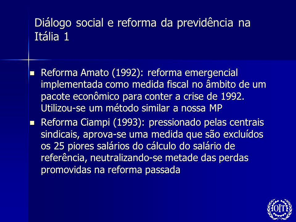 Diálogo social e reforma da previdência na Itália 1