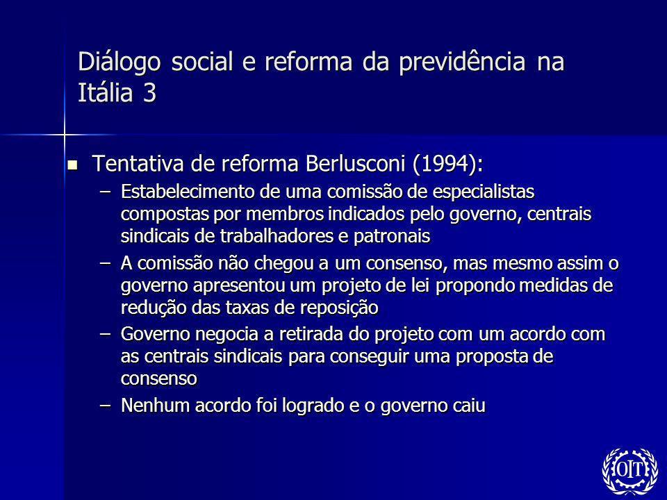 Diálogo social e reforma da previdência na Itália 3