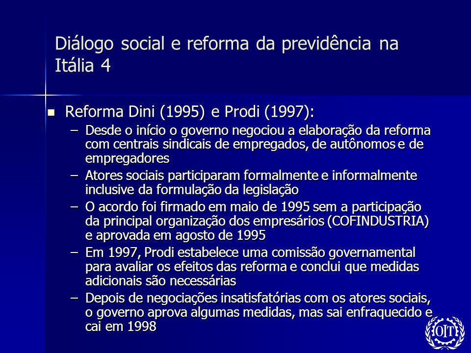 Diálogo social e reforma da previdência na Itália 4