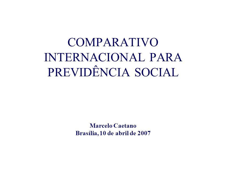 COMPARATIVO INTERNACIONAL PARA PREVIDÊNCIA SOCIAL