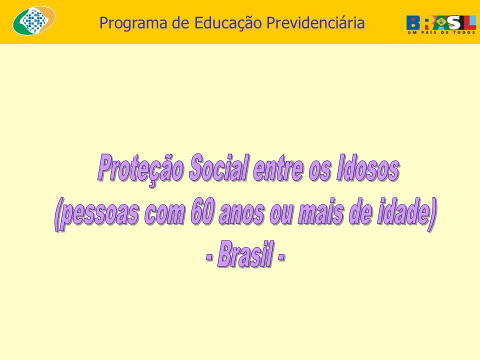 Proteção Social entre os Idosos (pessoas com 60 anos ou mais de idade)