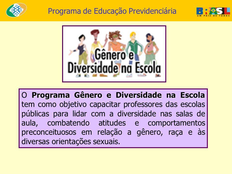 O Programa Gênero e Diversidade na Escola tem como objetivo capacitar professores das escolas públicas para lidar com a diversidade nas salas de aula, combatendo atitudes e comportamentos preconceituosos em relação a gênero, raça e às diversas orientações sexuais.