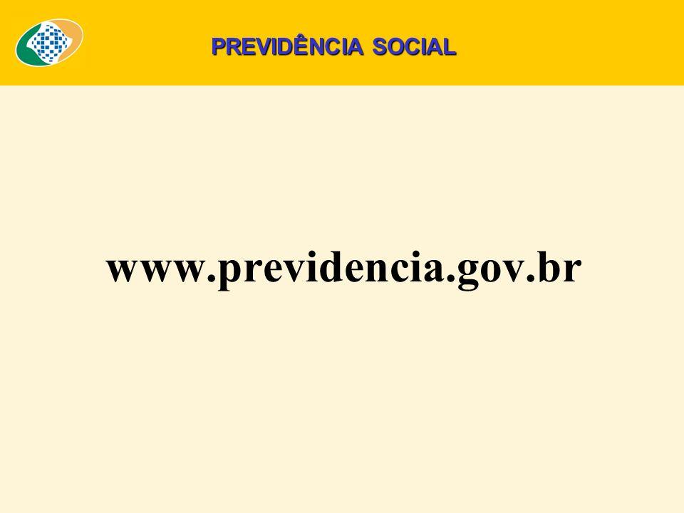 PREVIDÊNCIA SOCIAL www.previdencia.gov.br