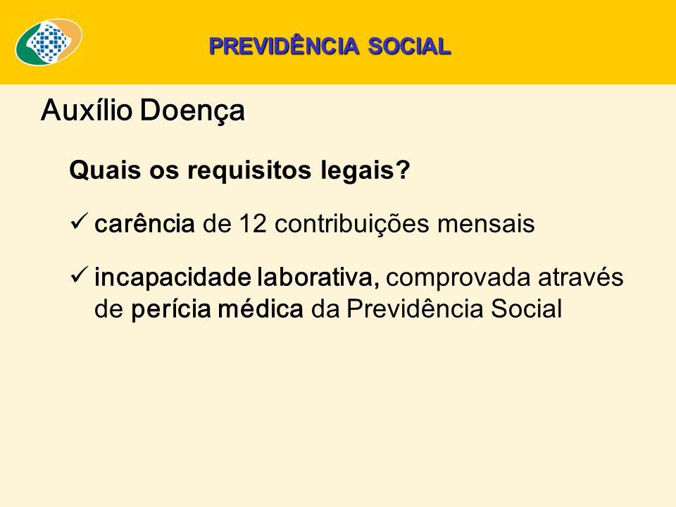 Auxílio Doença Quais os requisitos legais