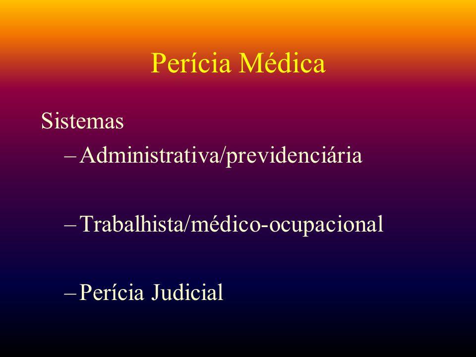 Perícia Médica Sistemas Administrativa/previdenciária