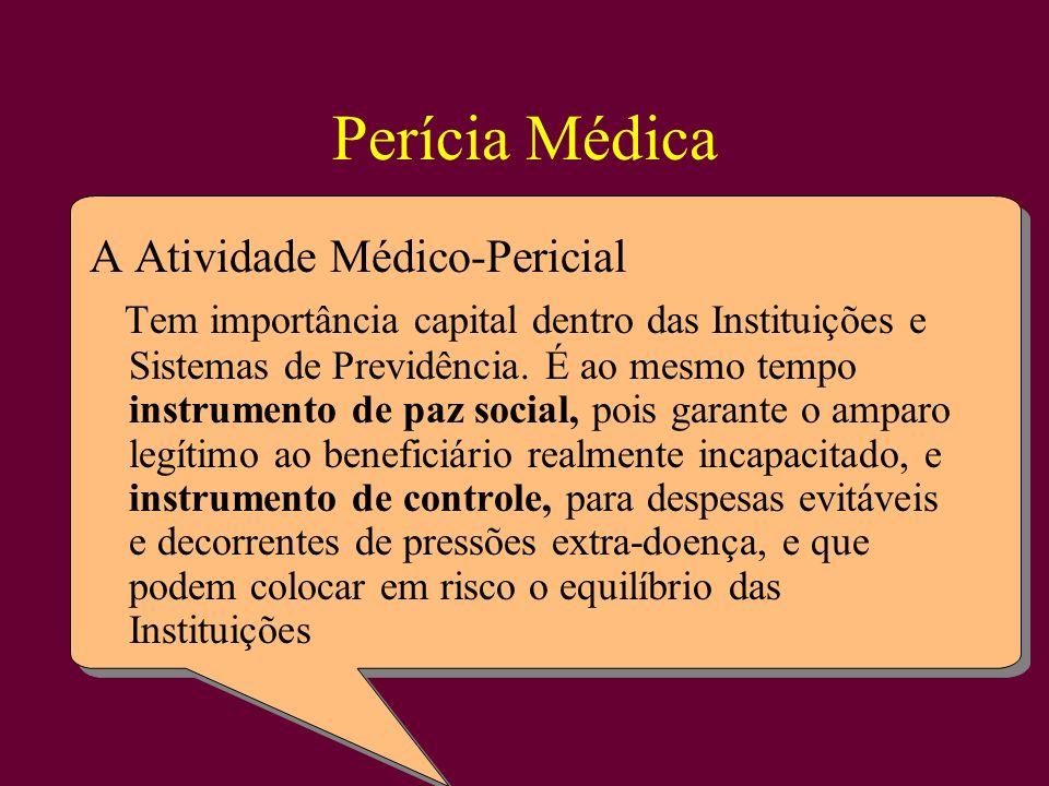 Perícia Médica A Atividade Médico-Pericial