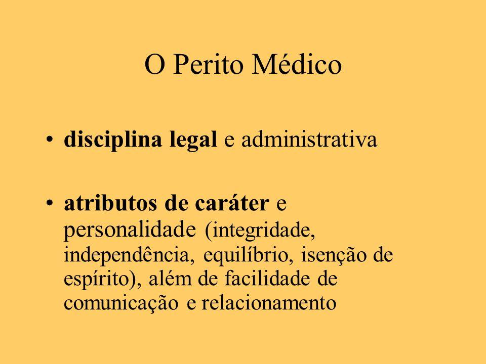 O Perito Médico disciplina legal e administrativa