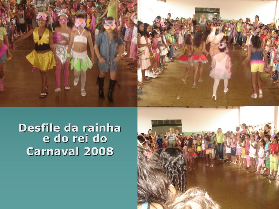 Desfile da rainha e do rei do