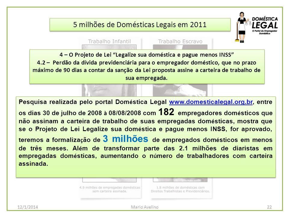 4 – O Projeto de Lei Legalize sua doméstica e pague menos INSS
