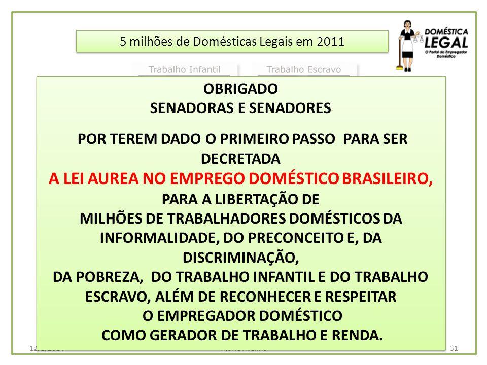 A LEI AUREA NO EMPREGO DOMÉSTICO BRASILEIRO,