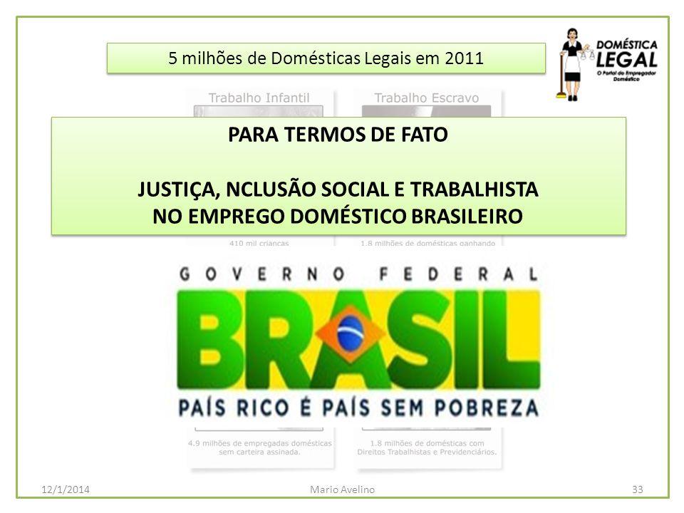 JUSTIÇA, NCLUSÃO SOCIAL E TRABALHISTA NO EMPREGO DOMÉSTICO BRASILEIRO