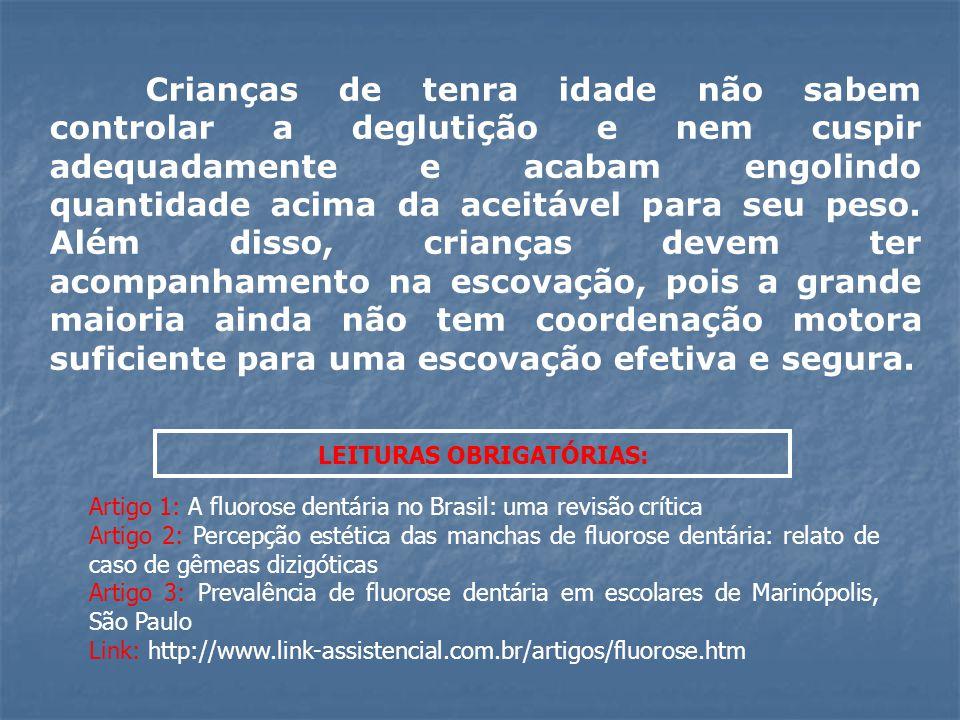 LEITURAS OBRIGATÓRIAS: